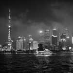 Uitzicht op Pudong skyline