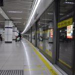 De metro is erg lang